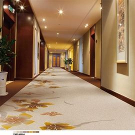 China Plain Style Hotel Corridor Carpet Graceful Prince White Wool Material supplier