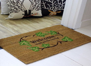 40*60cm Coir Coconut Entrance Matting Thickness 15mm PVC Backing