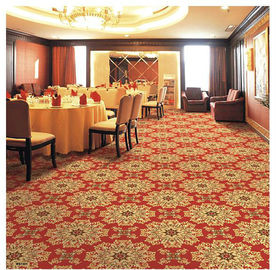 China Red Polypropylene Wilton Patterned Carpets For Hotel Banquet Hall factory