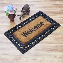 China Oriental Coir Welcome Doormat Printed Pattern Anti - Slip Feature factory