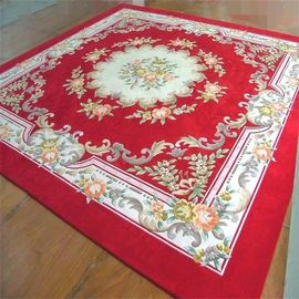 China Traditional Handmade Woollen Carpet , Hand Tufted New Zealand Wool Rug factory