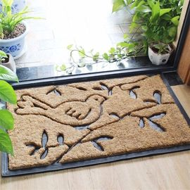 China 60*90cm Coir Entrance Matting , Custom Size Coir Door Mats Shaggy Pattern factory