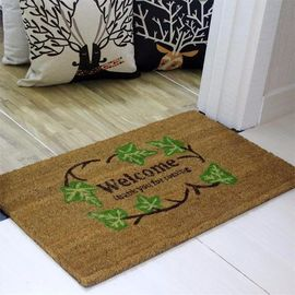 China Brown Coir Entrance Matting , Coir Logo Mats Healthy Environmental Function factory