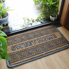 China Simple Large Front Door Welcome Mats Non Bruch Rubber Slip Resistance factory