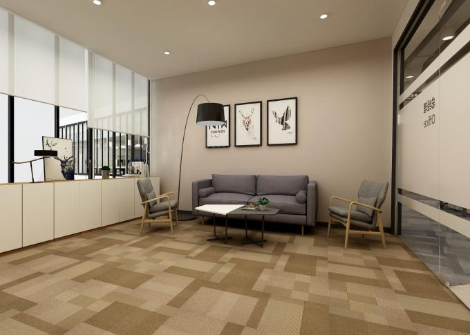 Commercial Luxury Pvc Flooring 5 Colors 100% Polypropylene Material